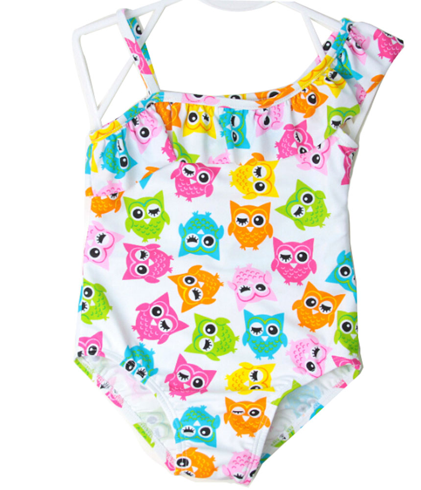 Lovely Girl One-piece Bathing Suit Swimsuit One-piece Tank   Owl