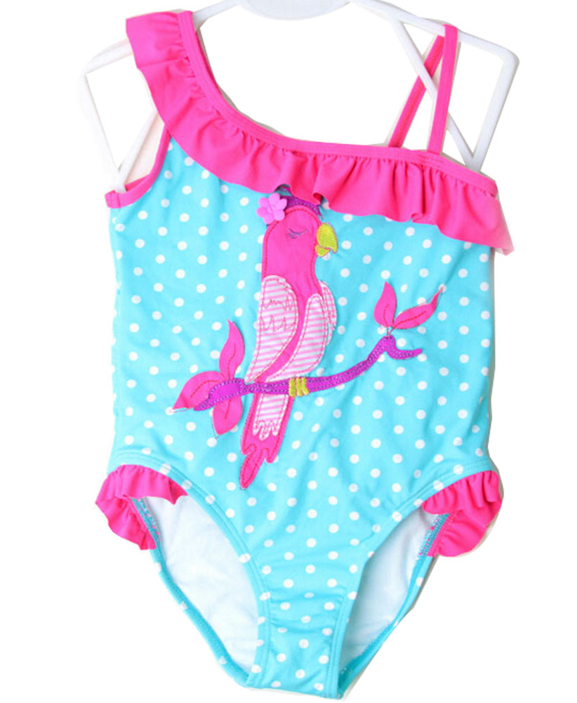 Lovely Girl One-piece Bathing Suit Swimsuit One-piece Tank   Pecker