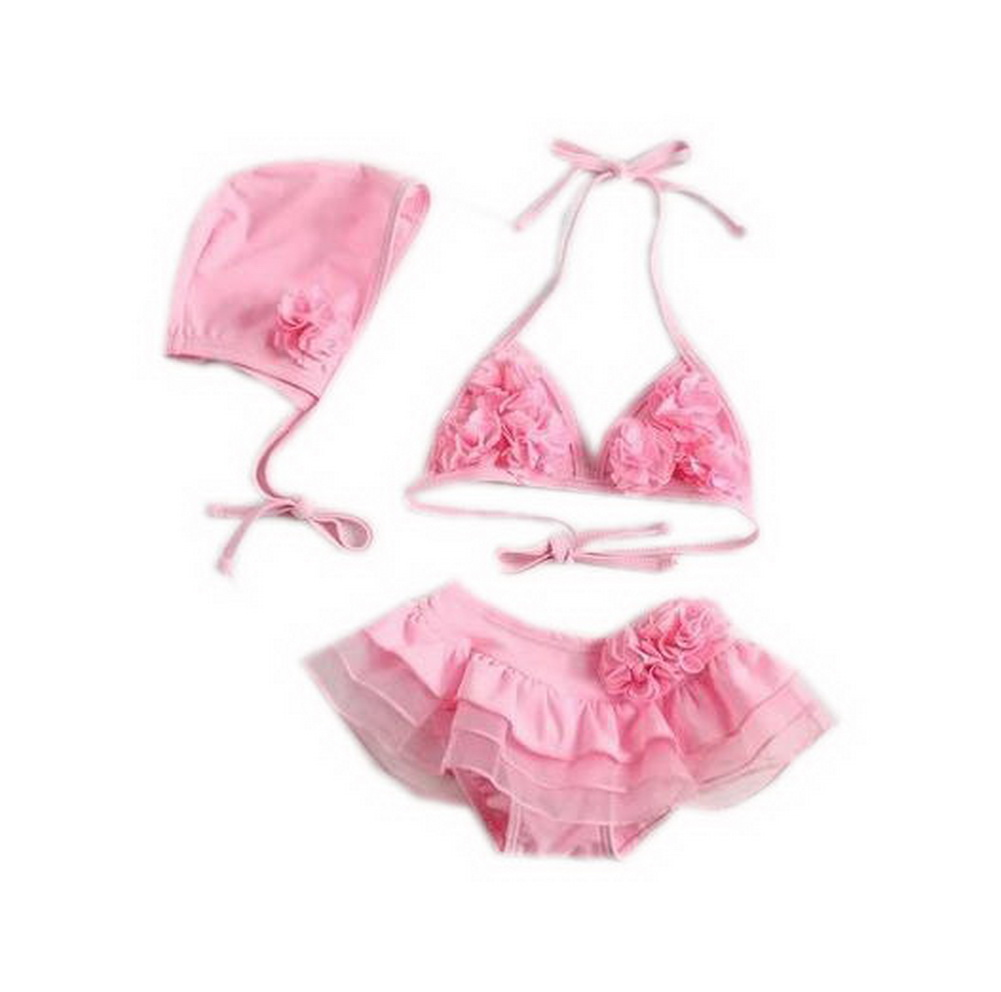 Cute Baby Girls Two Pieces Pink Top & Bottom, 3-4 Years Old