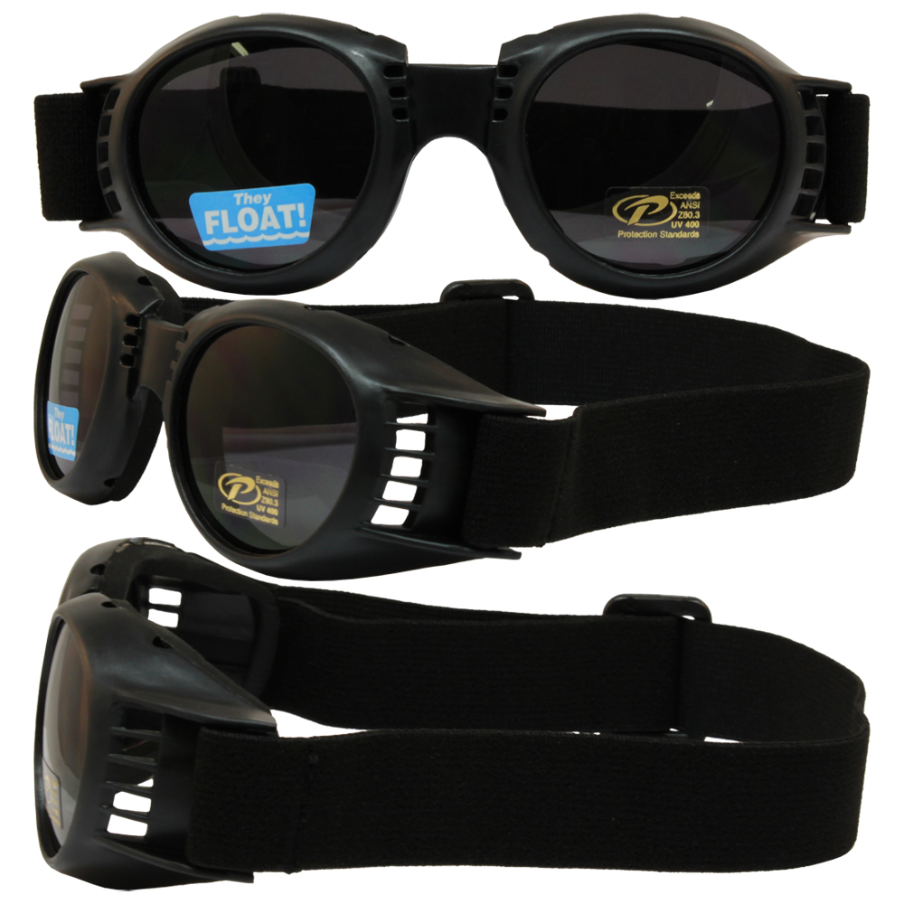 Piston Value Riding Goggles with Smoke Lenses and Black Frame