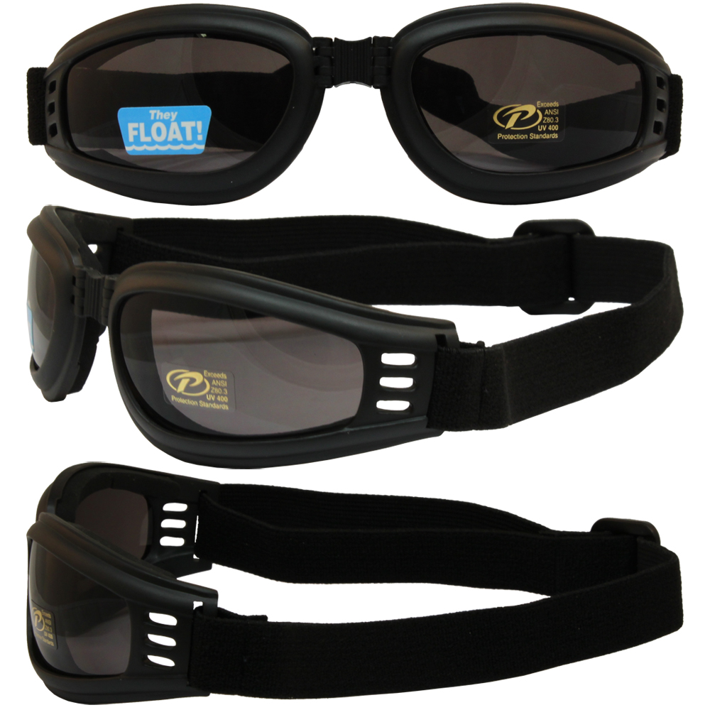 Nomad Value Riding Folding Goggles with Black Frame and Smoke Lens