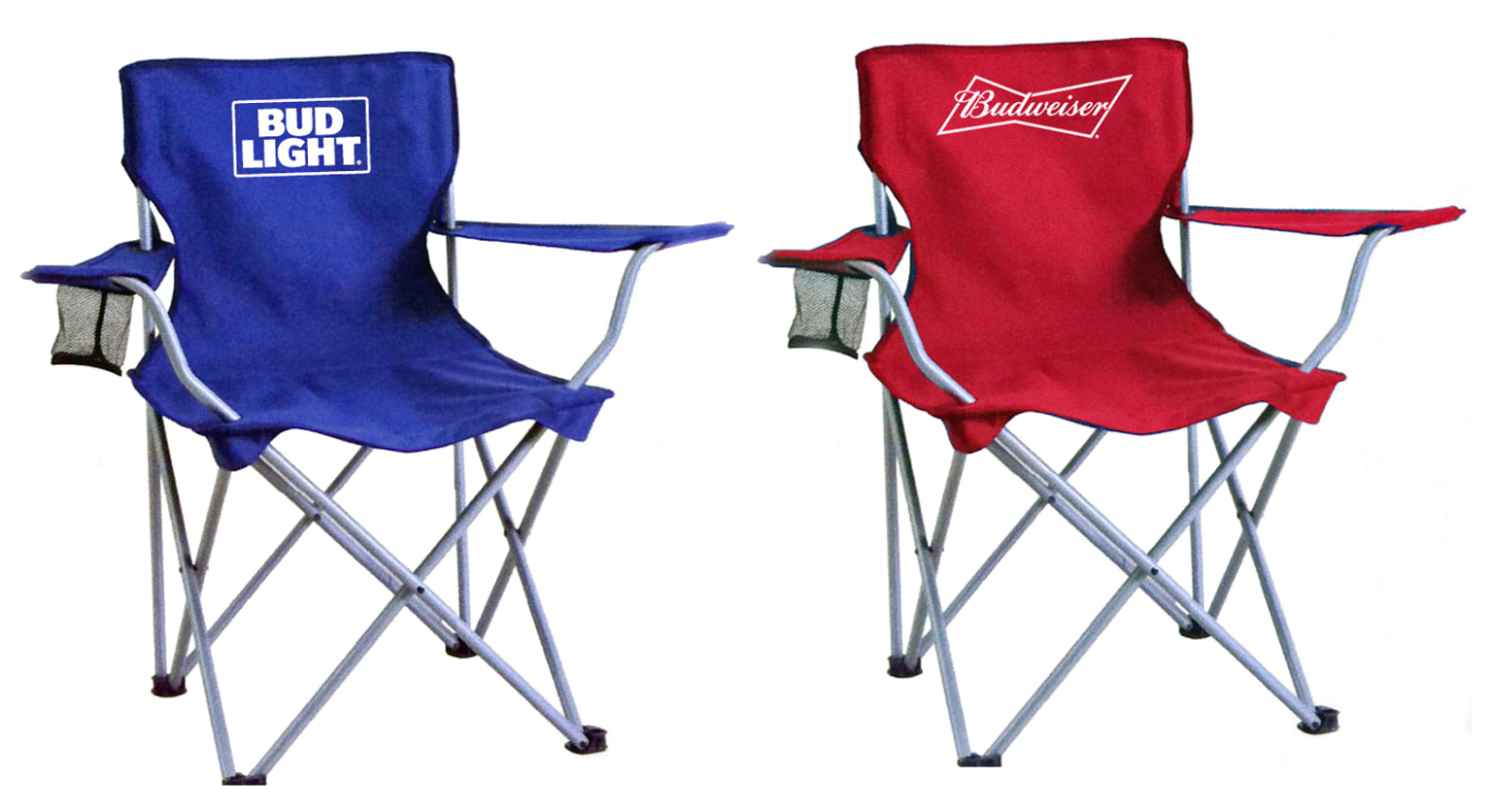 Budweiser/Bud Light Tailgate Chairs Case Pack 4