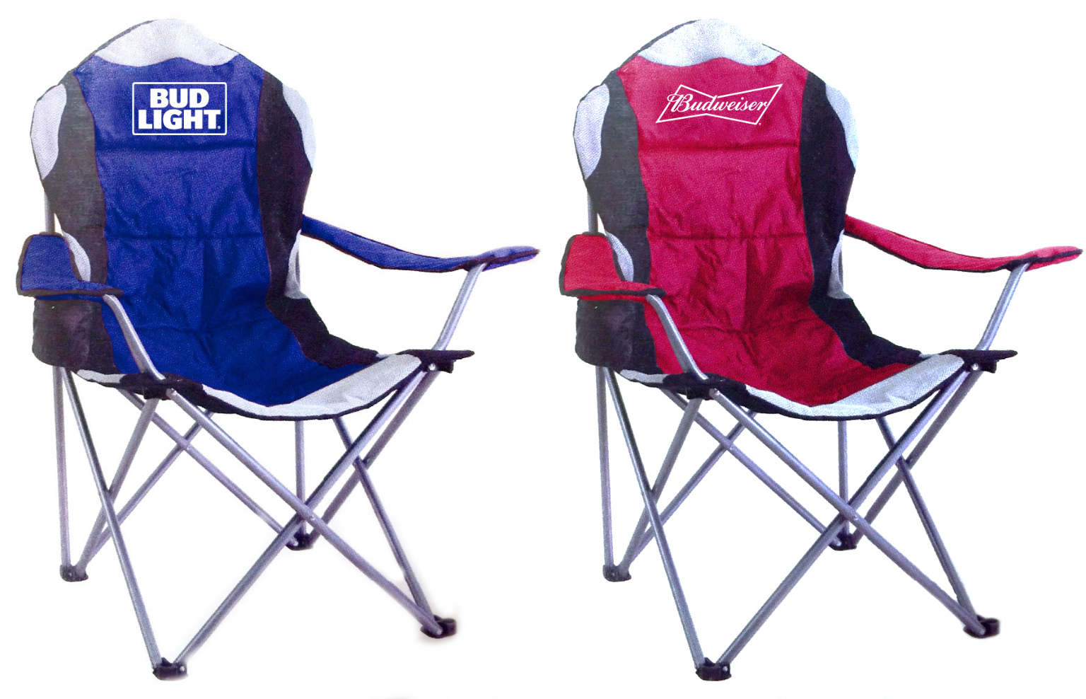 Budweiser/Bud Light Deluxe Tailgate Chairs - Assorted Brand Styles Case Pack 4
